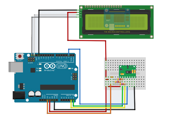 arduino max30100 with LCD