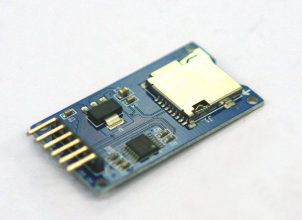 microSD card breakout board for Arduino - front