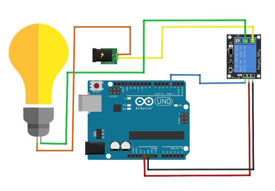 Wiring Arduino Relay - Switch Diagram •