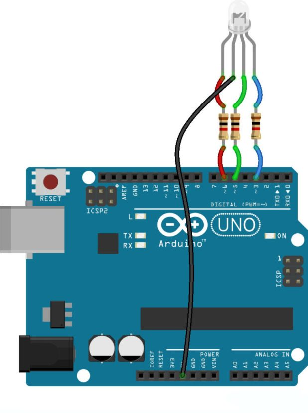 arduinoRGB LED common anode wiring