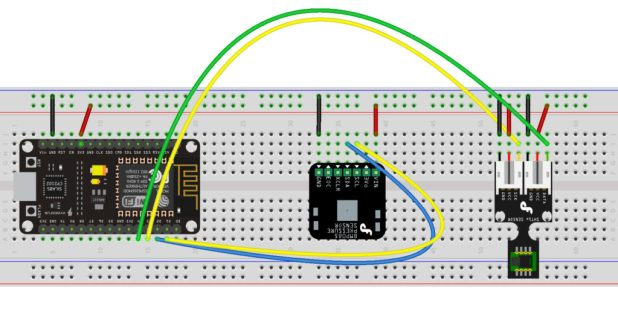 NodeMCU IoT Environment Monitor Wiring Diagram