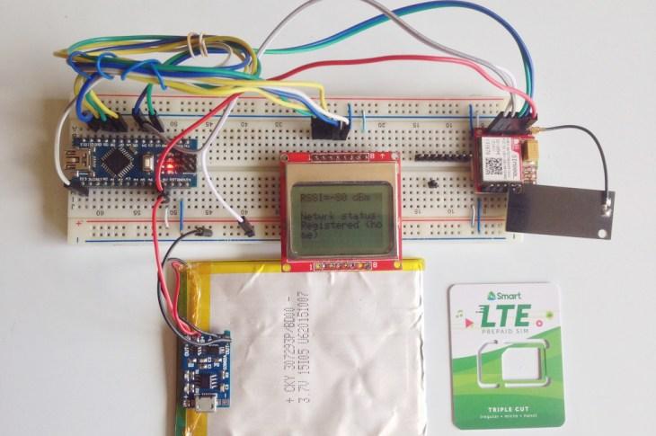 SIM800L Network Test Actual Setup