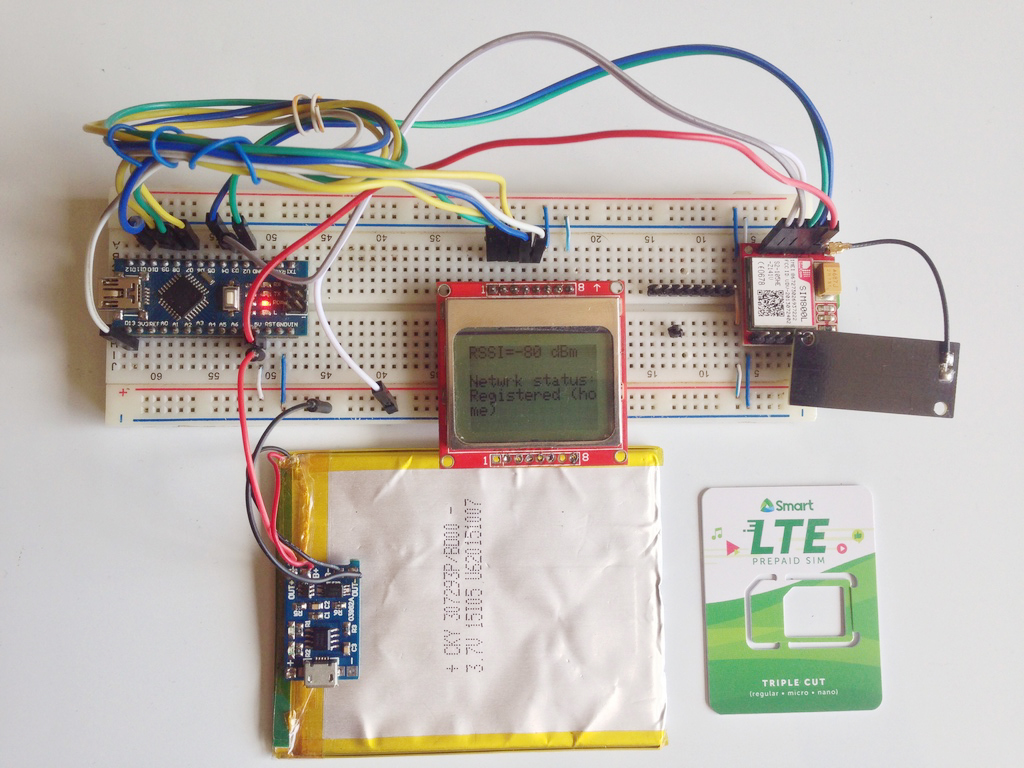 Sim800l Network Test Project Troubleshooting Teach Me 41 Breadboarded Led Circuit Microcontrollers
