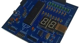 PIC16F7877A prototype board