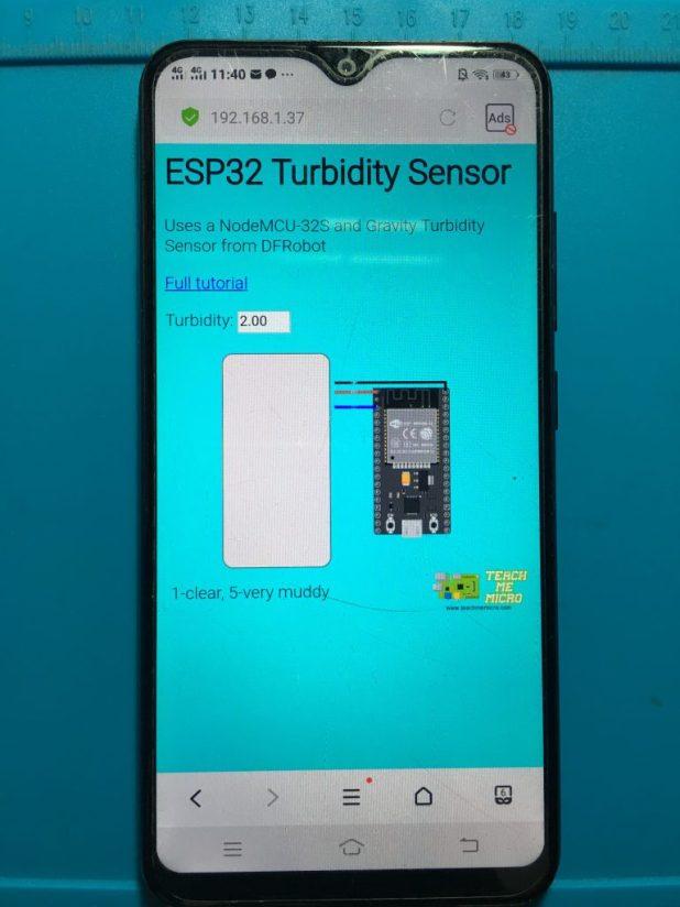 ESP32 Turbidity App