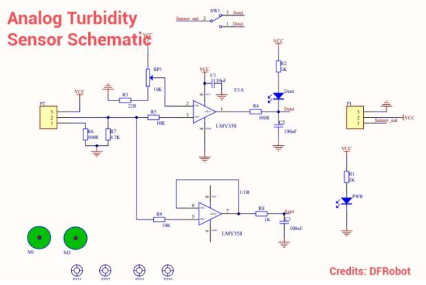 Turbidity sensor schematic