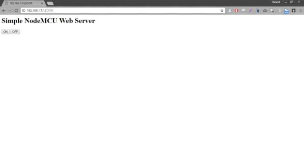 old web server page