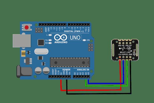 Arduino MAX30102 (black) wiring
