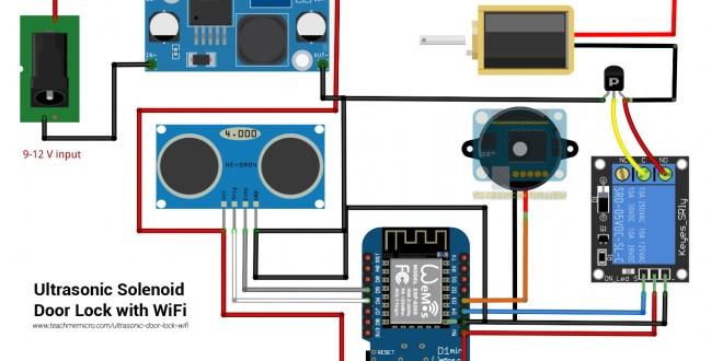 ultrasonic door lock wiring diagram