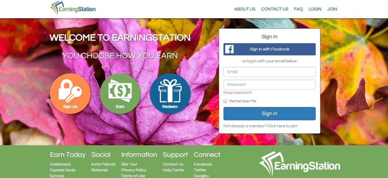 EarningStation Login for online surveys