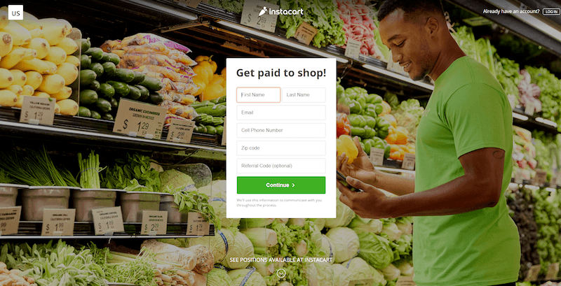 Instacart Sign Up