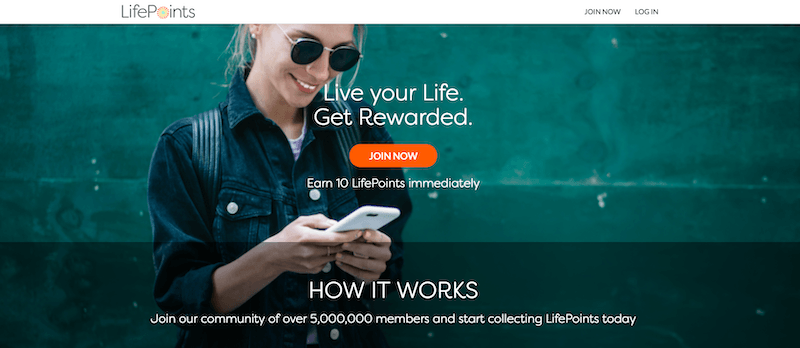 LifePoints Homepage