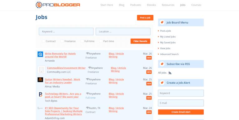 Legit online job Problogger