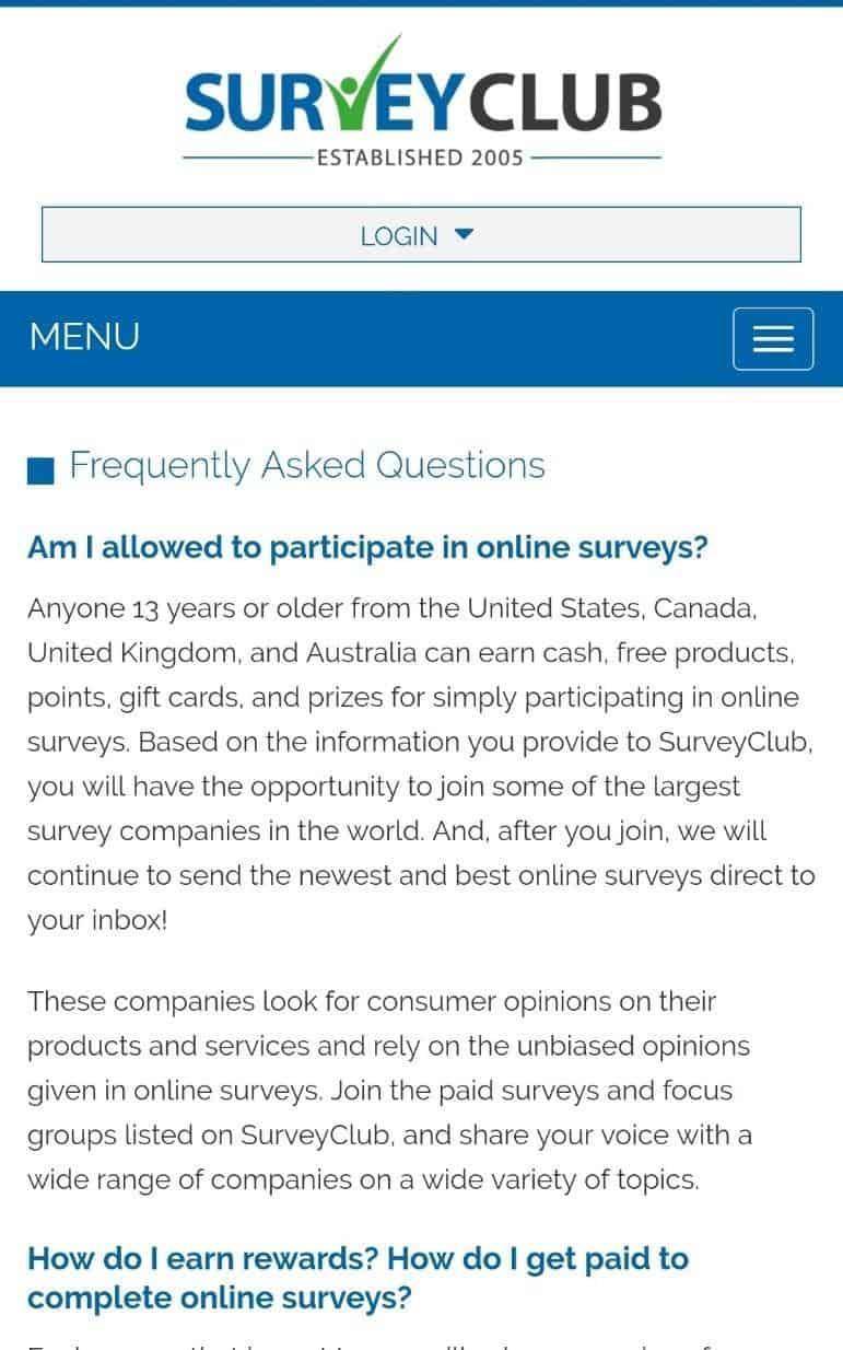 survey club faq