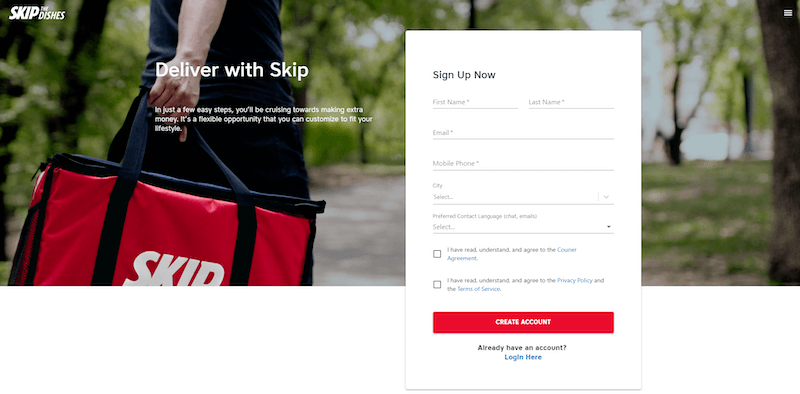 earn money with Skip the Dishes