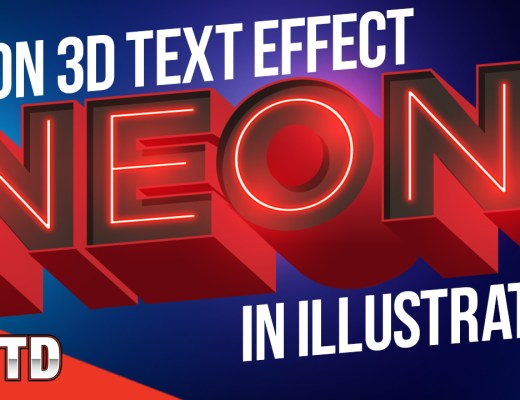 Neon 3D text tutorial.