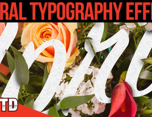Learn to create an elegant floral text effect in Photoshop.
