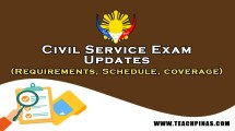 Civil Service Exam (Schedule, Requirements, Coverage)