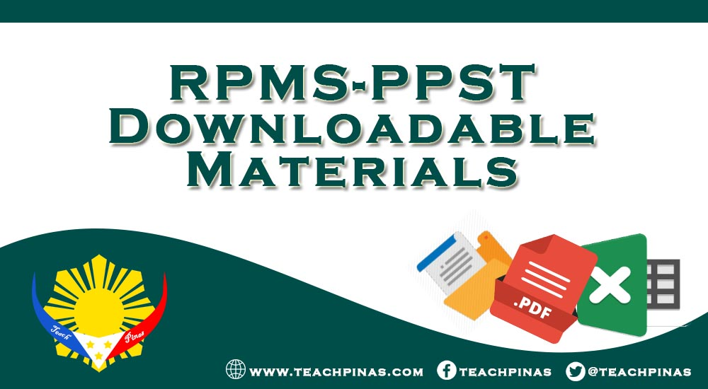 RPMS-PPST Downloadable Materials