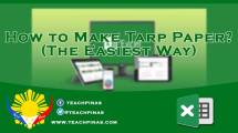 How to make tarpapel or tarp papel