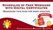 Schedules of Free Webinars with Digital Certificates