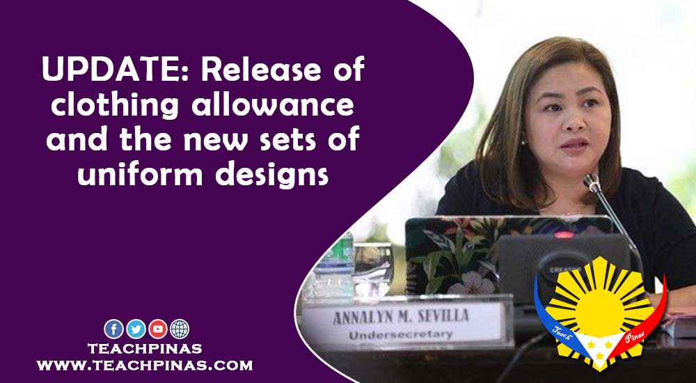 Release of clothing allowance and the new sets of uniform designs