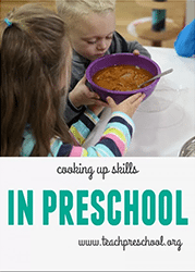 Cooking up skills in preschool
