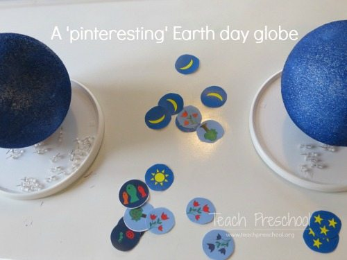A pinteresting Earth day globe for preschoolers