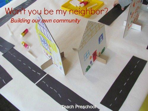 Neighborhood under construction in preschool