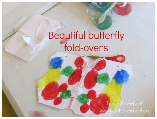 Beautiful butterfly fold-overs