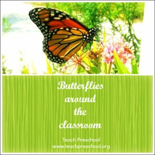 Butterflies all around the classroom
