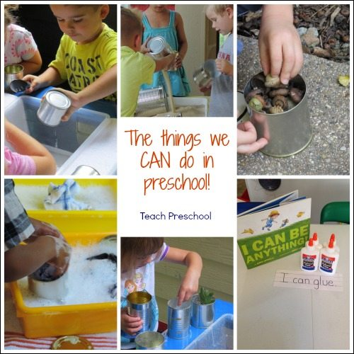 "Beginning a new preschool year with the things we ""can"" do!"
