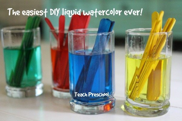 How to make the easiest DIY liquid watercolor ever!