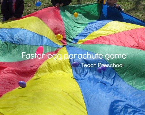 Easter egg parachute game