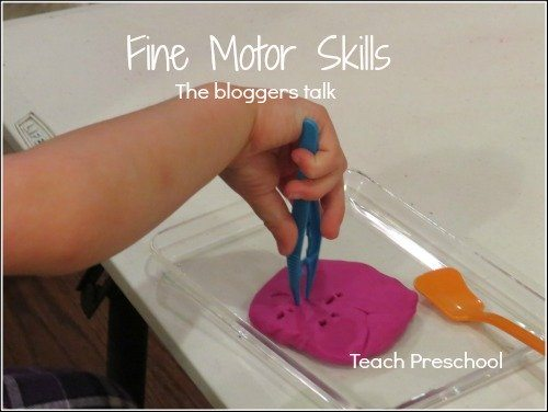 The bloggers talk about fine motor skills