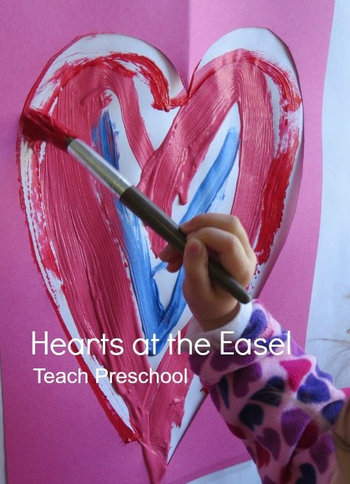 Hearts at the easel