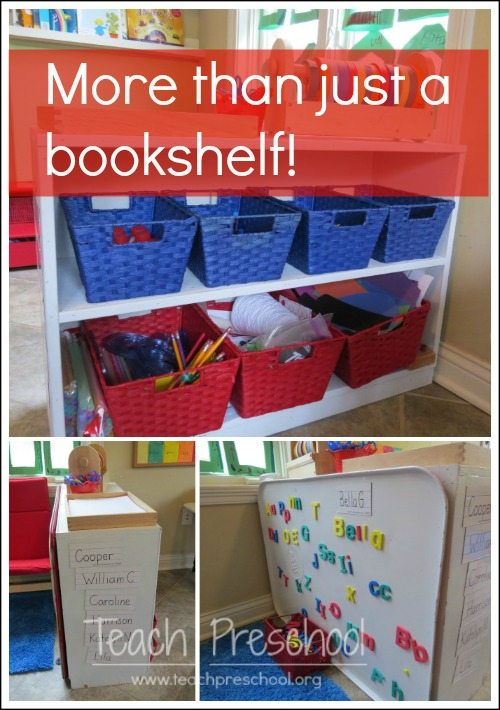 Getting the most value out of a bookshelf in the preschool classroom