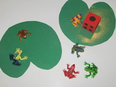 This is a little frog game for preschoolers