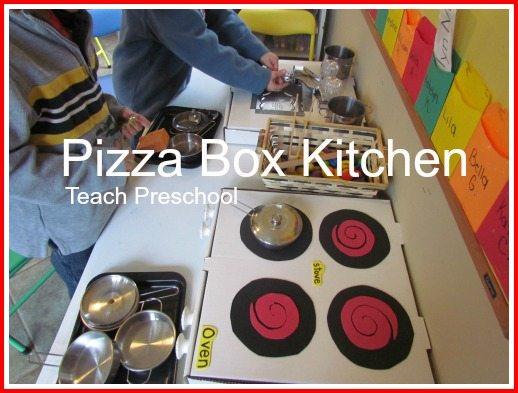 DIY pizza box kitchen