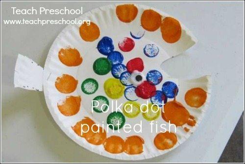 Polka dot painted fish