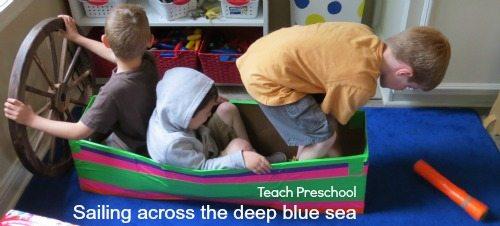 Sailing across the deep blue sea