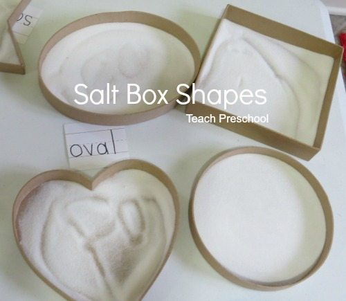 Exploring all kinds of shapes with salt box drawing