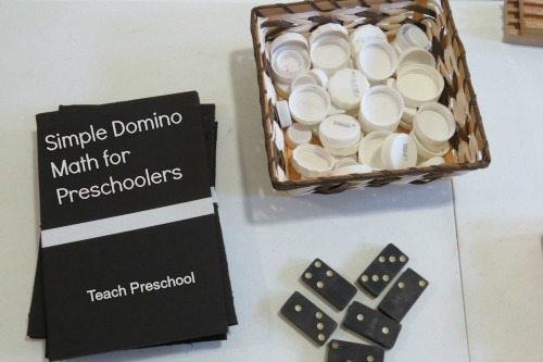 Simple domino math for preschoolers