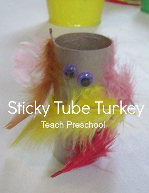 Sticky tube turkeys