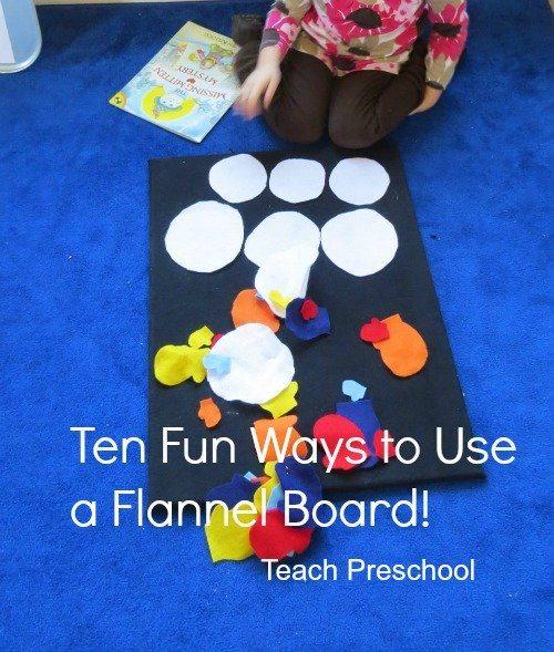 Ten fun ways to use a flannel board