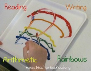 The 4 R's: reading, writing, arithmetic, and rainbows