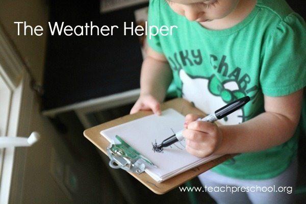 The weather helper in preschool
