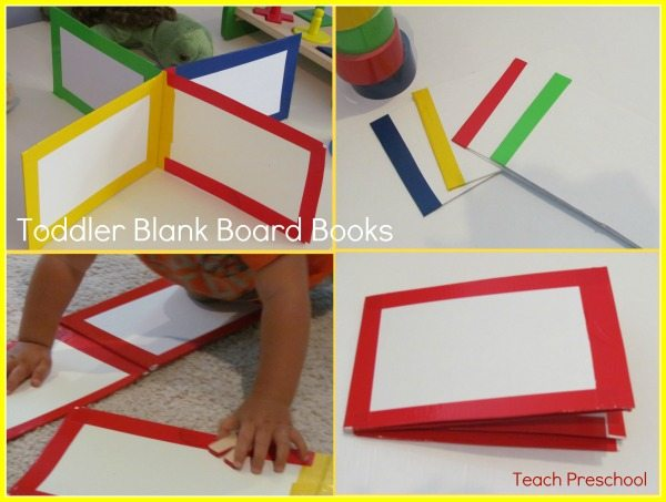 How to make blank toddler board books