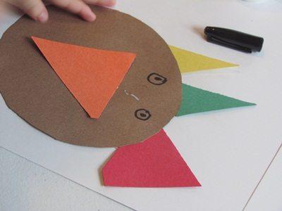 Shaping up with turkeys in preschool