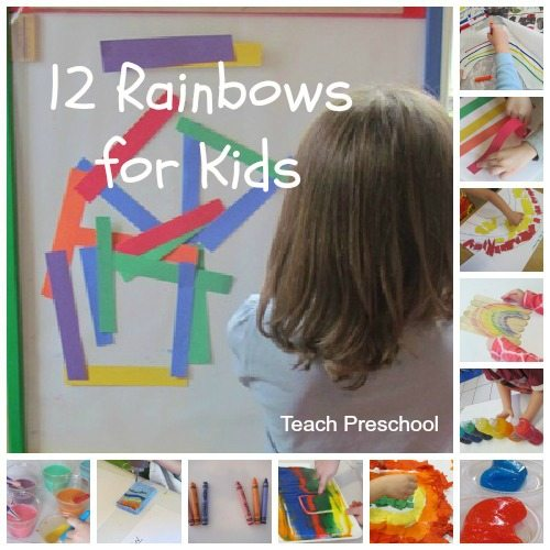 Twelve rainbows for kids to create and explore
